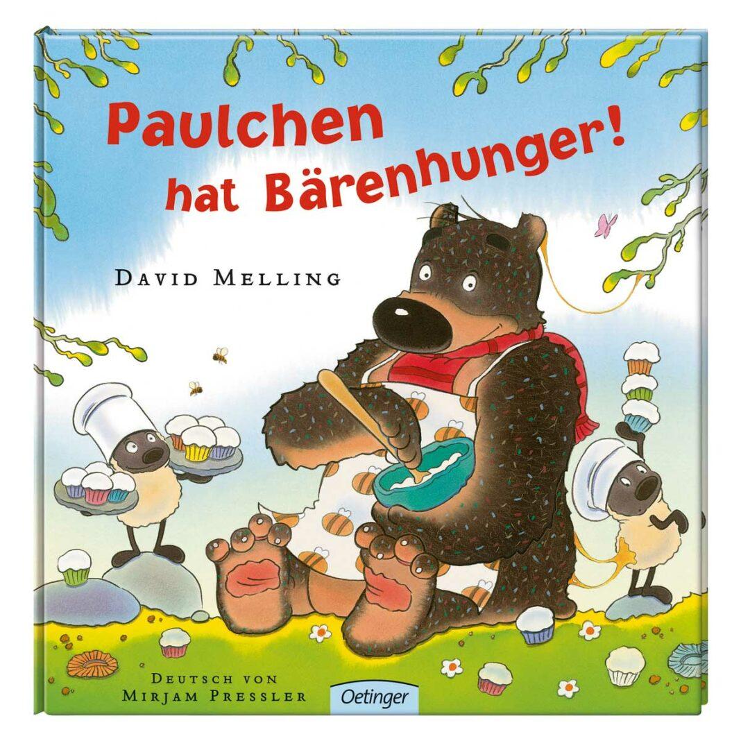 """Kinderbuch Rezension – """"Paulchen hat Bärenhunger"""" von David Melling. (Bild: Oetinger)"""